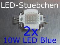2x 10W High-Power LED Blau 1050mA