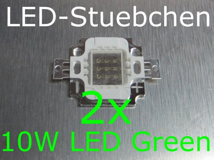 2x 10W High-Power LED Grün 1050mA