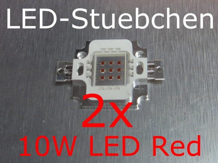 2x 10W High-Power LED Rot 1050mA