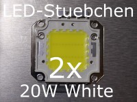 2x 20W High-Power LED Weiss
