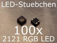 100x 2121 RGB SMD LED Black