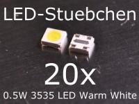 20x 3535 0,5W Mid-Power Warmweiss SMD LED