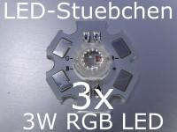 3x 3W RGB LED 4-PIN CA (3x1W) 350 mA