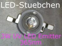 3W 365nm Ultraviolett (UV) LED Emitter 700mA