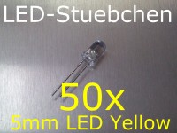 50x 5mm LED Gelb