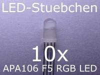 10x APA106 F5 / P9823 - 5mm RGB LED mit integriertem Controller, wie WS2812B