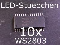 10x WS2803 18-Kanal LED-Treiber