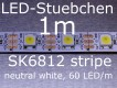 SK6812 neutral weisser LED Stripe - LEDs mit integriertem WS2811 controller, 60 LED/m