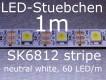 SK6812 neutral weisser LED Stripe - LEDs mit integriertem WS2811 controller, 60 LED/m